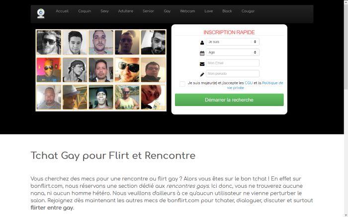 Bonflirt.com - Tchat Gay pour Flirts et Rencontres Gays